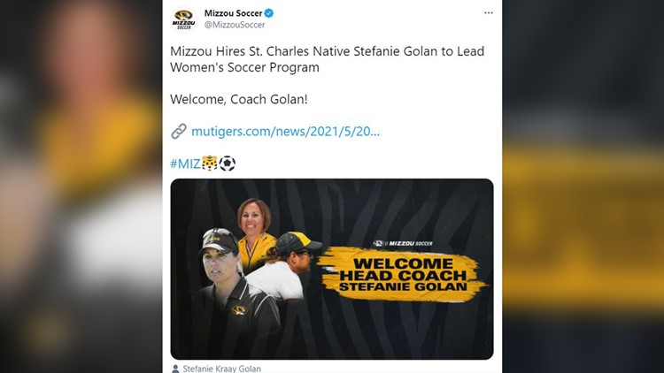 Mizzou Women's Soccer hires St. Charles native Stephanie Golan as head coach