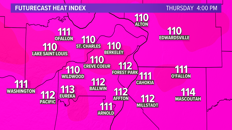 St. Louis heat advisory: Heat index could hit 110+ degrees on Thursday