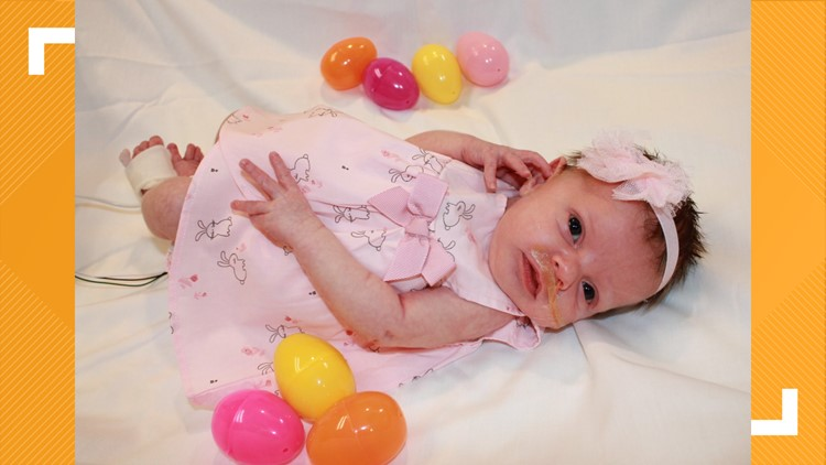 Cardinal Glennon NICU residents make an Easter fashion statement