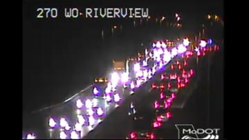 I-270 WB back open at Chain of Rocks Bridge after multi-vehicle crash