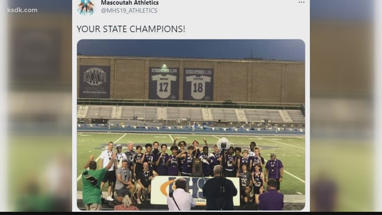Mascoutah boys track brings home school's first team sports title since 1979