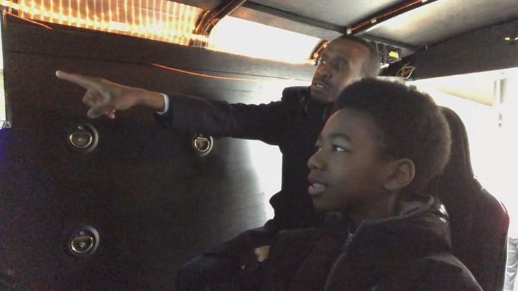 Kids' imaginations soar in homemade flight simulator