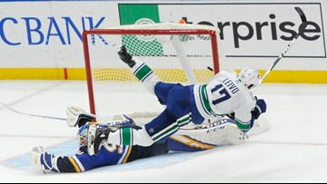 Blues lose marathon shootout in first game back after road trip