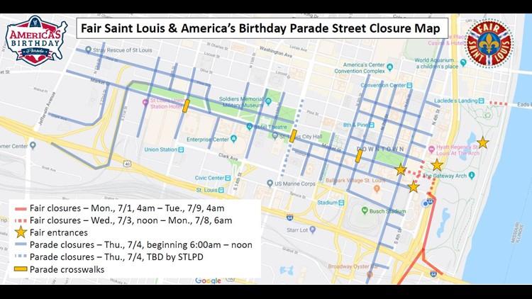 fair saint louis map street closures