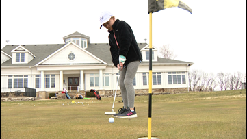 She's 9 years old, and she'll be golfing at Augusta this April
