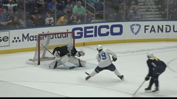 Blues prospects show off skills in scrimmage