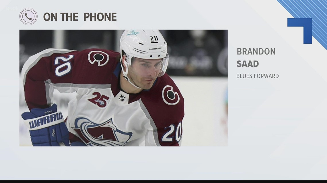 Brandon Saad talks about signing with St. Louis Blues