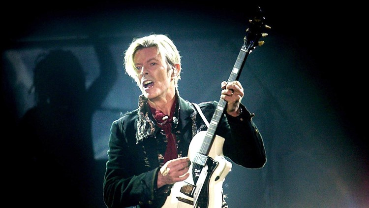 David Bowie performing, Copenhagen, Denmark