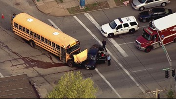 Crash involving school bus in south St. Louis
