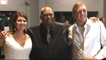 Blues national anthem singer performs 'Gloria' at St. Louis couple's wedding