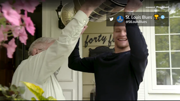 It doesn't get better than Colton Parayko and his grandpa with the Cup