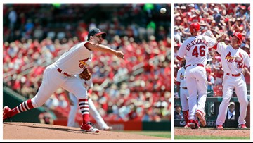 Cardinals ride vintage Wainwright start, Goldschmidt homer to series win