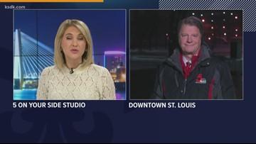 Missouri side has more crashes on snowy Sunday