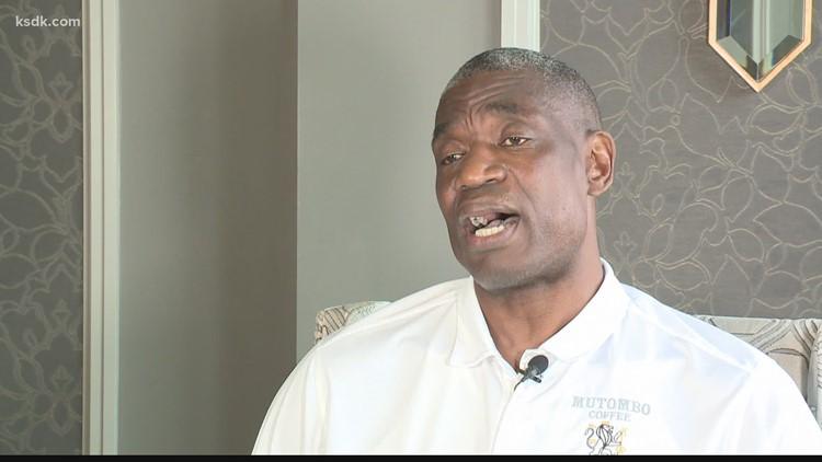 Dikembe Mutombo visits St. Louis to tout coffee, philanthropy
