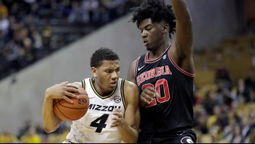Mizzou ends 4-game skid with 72-69 win over Georgia