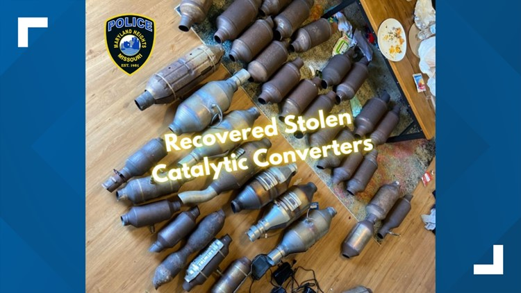 More than 30 stolen catalytic converters recovered in Maryland Heights arrest