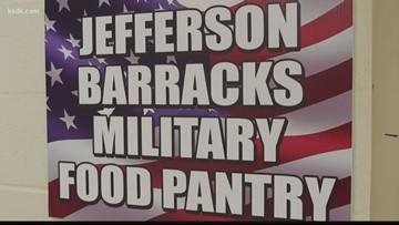 Military mom restocks Jefferson Barracks Food Pantry