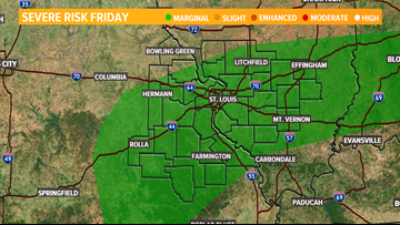 We're tracking strong storms moving through St  Louis Friday
