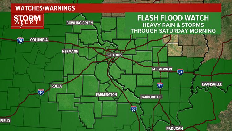 Flash Flood Watch Through Saturday Morning