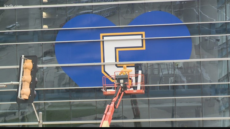 Blues honor Bob Plager with decal on Enterprise Center