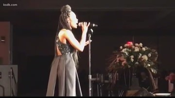 Kennedy Holmes performs at Urban League dinner in St. Louis
