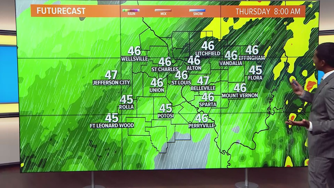 Ksdk Weather Map.Thursday Weather Forecast 730am Ksdk Com