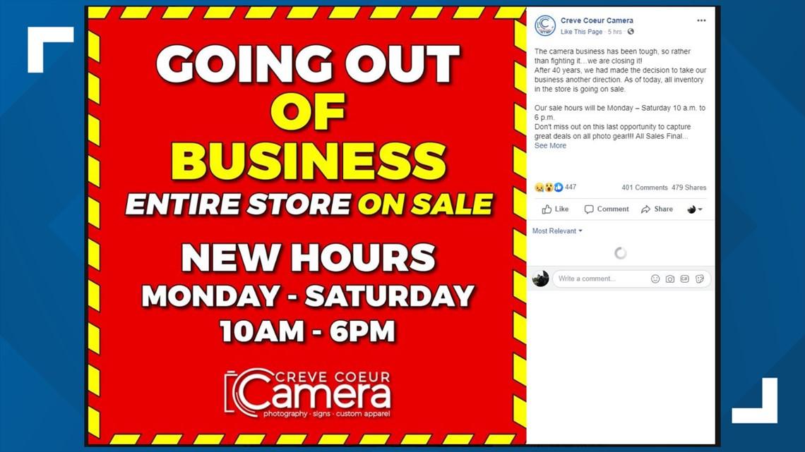 Creve Coeur Camera going out of business   ksdk com