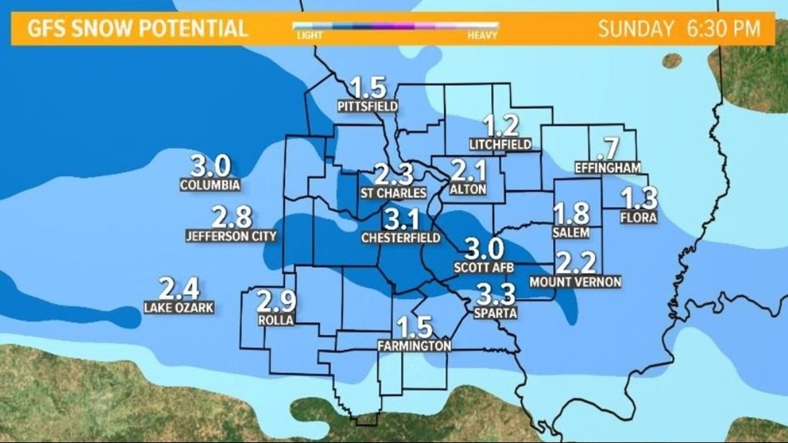 Ksdk Weather Map.3 Winter Storms Expected Over The Next 5 Days First Up Friday
