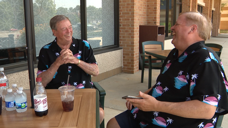 After almost 60 years apart, father and son spend Father's Day together