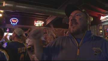 Stanley Cup Champions St. Louis Blues – fan reaction to first period goals