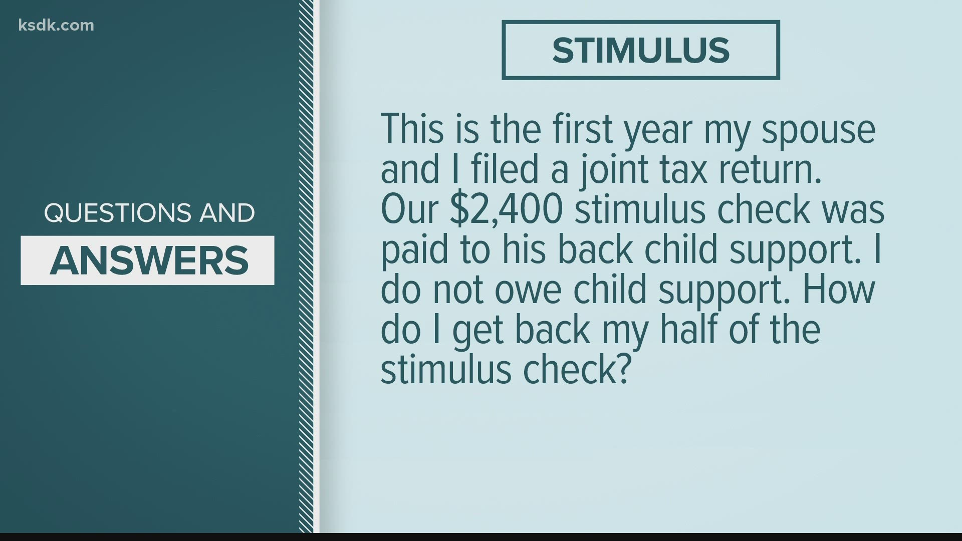 Stimulus Check 2020 Delays Issues Tax Return Amount Ksdk Com Injured, spouse i'm gonna be filing injured spouse this year. your stimulus questions answered