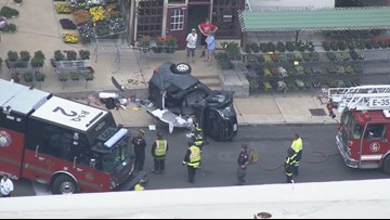 Car overturns, has to be cut open after south St. Louis crash