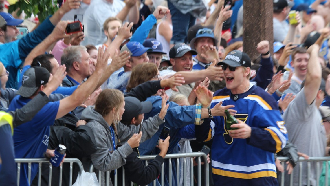 'We're Stanley Cup champs, baby!' | Blues rally thousands of fans downtown