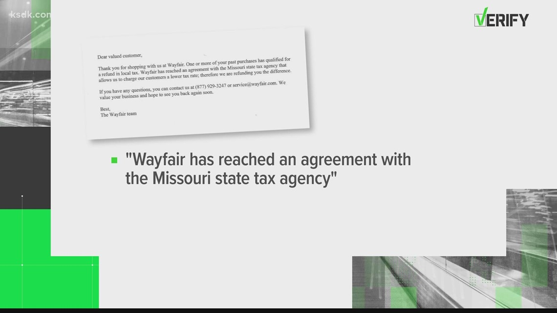 VERIFY: Yes, that Wayfair tax refund you got in the mail is real