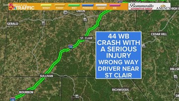 Crews on scene of crash on WB I-44 in Franklin County