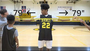 This small forward's large wingspan equals an insane amount of blocks