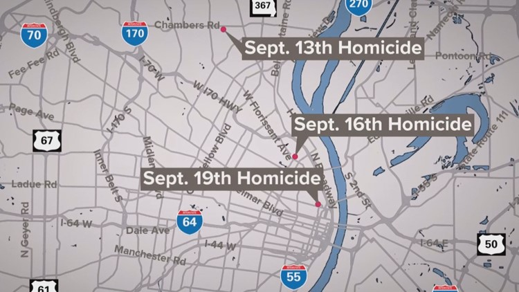 St. Louis Police asking the public to help solve three connected murders