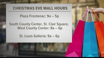 Christmas Eve holiday hours for last-minute shoppers