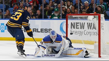 Blues pick up another point but fall to Sabres in a shootout