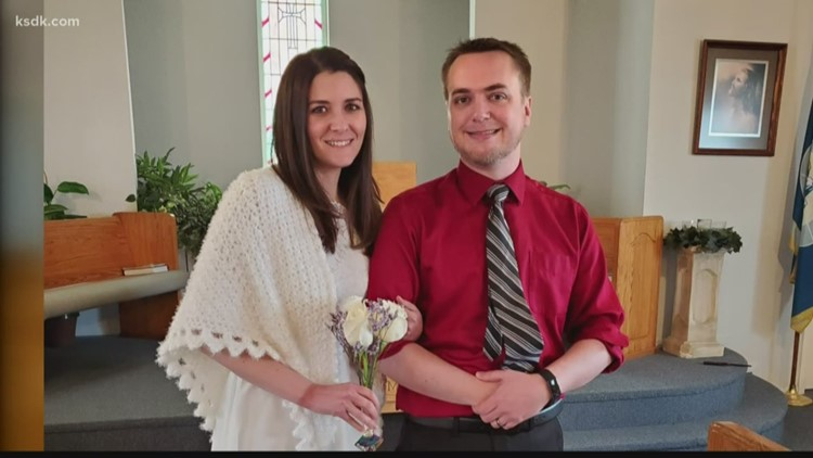 Couple shares some joy by streaming their wedding