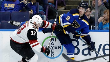 Blues fumble away golden opportunity, lose to Coyotes 3-1