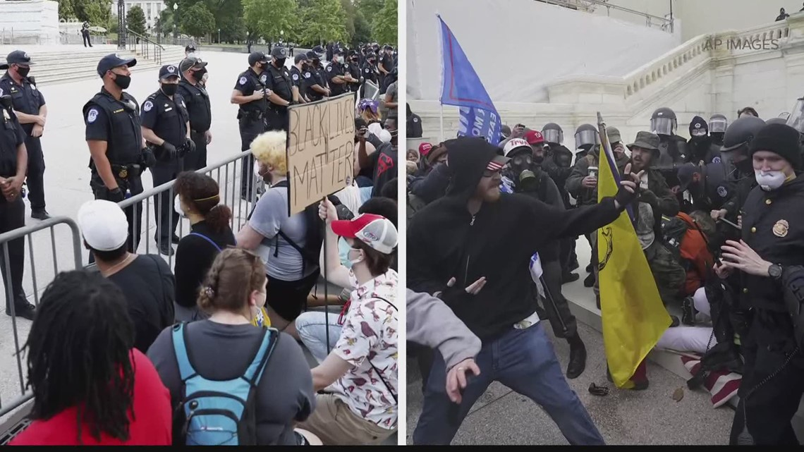 Activists respond to police response during US Capitol ...