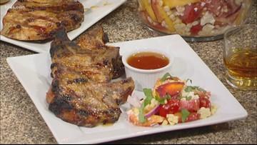 Recipe of the Day: Pork Chops with a Peach Bourbon Glaze