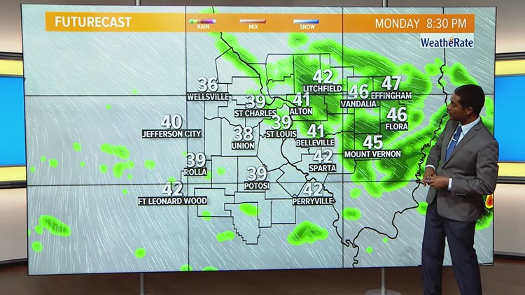 Ksdk Weather Map.Monday Weather Forecast 730am Ksdk Com
