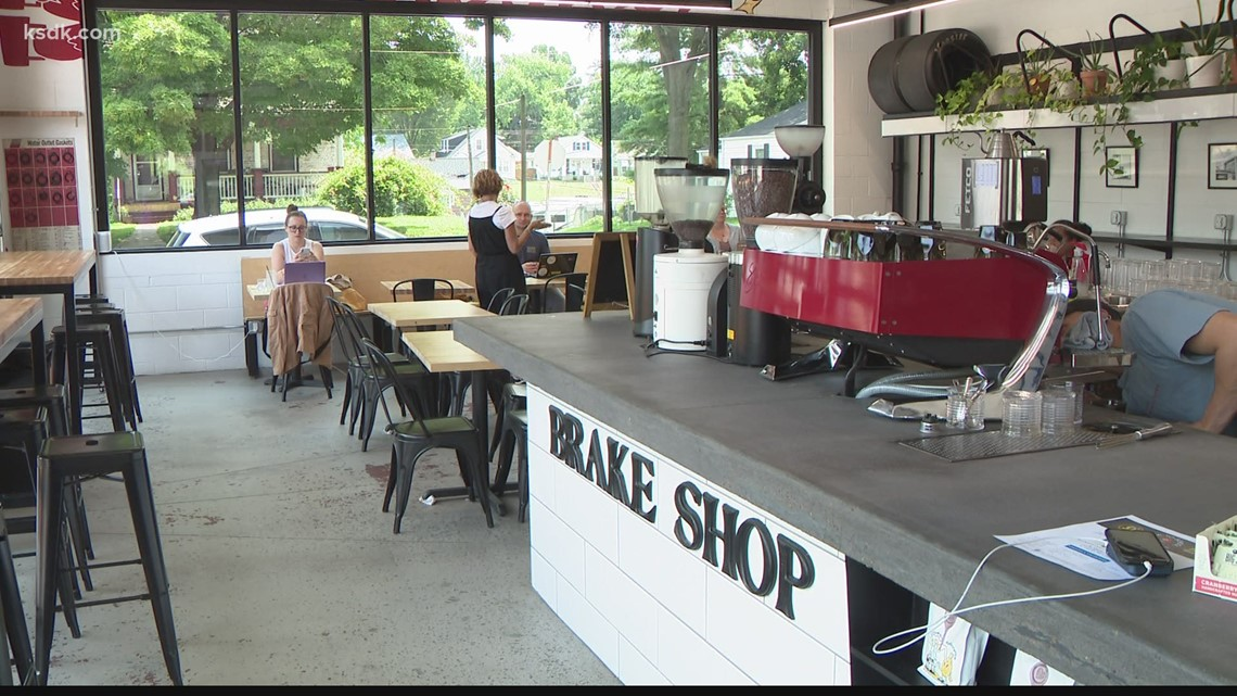 St. Charles coffee spot located in an old brake shop