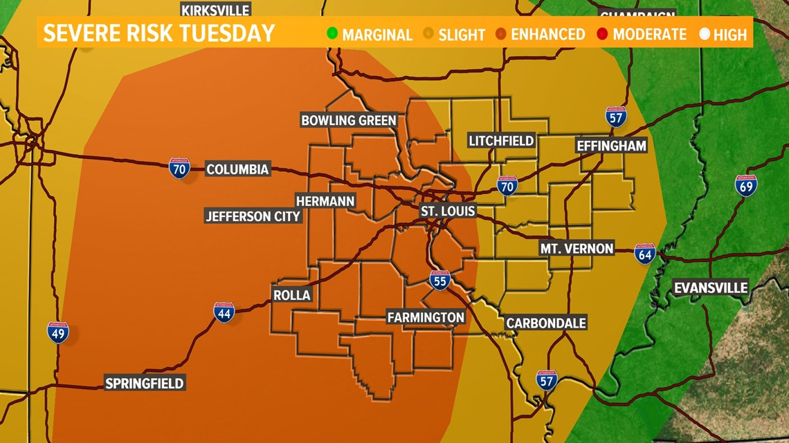 Severe weather outbreak expected Tuesday in the bi-state