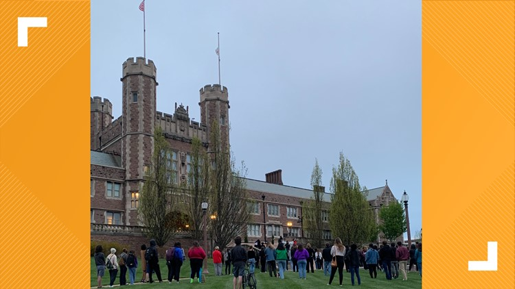 WashU students pack campus for Justice for Daunte Wright Rally