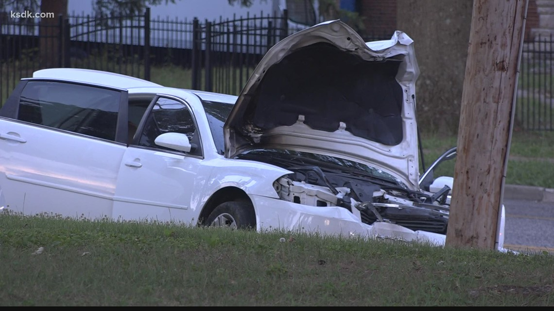 Person found dead outside of burning vehicle after crash on Bellefontaine Road