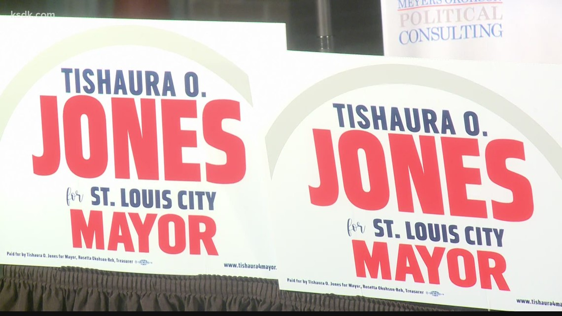 New mayor-elect Tishaura Jones meets with Lyda Krewson