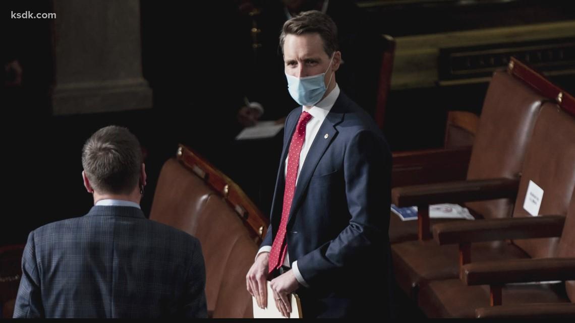 Sen. Hawley files counter-complaint against 7 Senate Democrats